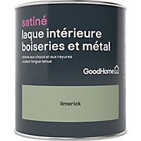 Laque boiseries et métal GoodHome Limerick Satin 0,75L