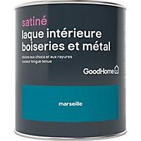 Laque boiseries et métal GoodHome Marseille Satin 0,75L