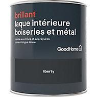 Laque boiseries et métal GoodHome Noir Brillant 0,75L