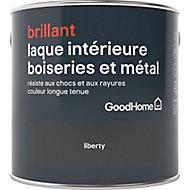 Laque boiseries et métal GoodHome Noir Brillant 2,5L