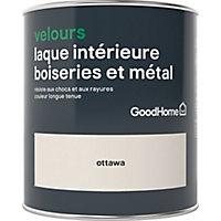 Laque boiseries et métal GoodHome Ottawa Velours 0,75L