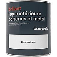 Laque résistante boiseries et métal GoodHome Blanc Brillant 0,75L