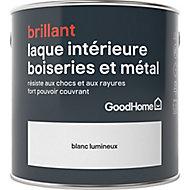 Laque résistante boiseries et métal GoodHome Blanc Brillant 2,5L