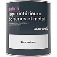 Laque résistante boiseries et métal GoodHome Blanc Satin 0,75L