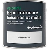 Laque résistante boiseries et métal GoodHome Blanc Velours 2,5L