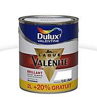 Laque Valénite Dulux Blanc brillant 2L + 20%