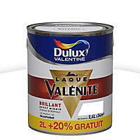 Laque Valénite Dulux Blanc brillant 2L + 20%