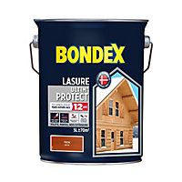 Lasure bois Bondex Teck 5L - 12 ans