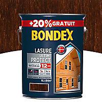 Lasure bois Bondex Ultim' protect Chêne moyen 12 ans 5L + 20%