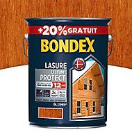 Lasure bois Bondex Ultim' protect Teck 12 ans 5L + 20%