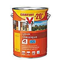 Lasure bois classique V33 Chêne clair 5L + 20% - 4 ans