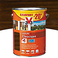 Lasure bois classique V33 Chêne moyen 5L + 20% - 4 ans