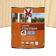 Lasure bois classique V33 Incolore 1L - 4 ans