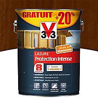 Lasure bois protection intense Chêne moyen 8 ans 5L + 20%
