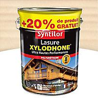 Lasure Syntilor Xylodhone Ultra Hautes Performances blanc satin 5L + 20% gratuit