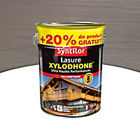 Lasure Syntilor Xylodhone Ultra Hautes PerFormances gris acier satin 5L + 20% gratuit