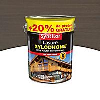 Lasure Syntilor Xylodhone Ultra Hautes PerFormances gris anthracite 5L + 20% gratuit