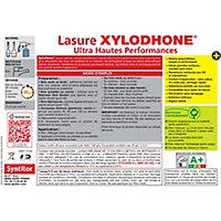 Lasure Syntilor Xylodhone Ultra Hautes Performances noir 5L + 20% gratuit