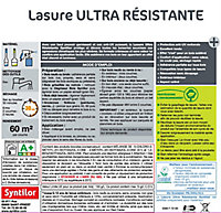 Lasure Ultra résistante Syntilor ton chêne clair 5L