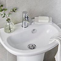 Lave-mains céramique blanc GoodHome Zuari