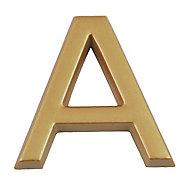 """Lettre dorée """"A"""" en relief"""