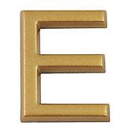 """Lettre dorée """"E"""" en relief"""