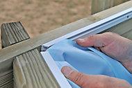 Liner bleu pour piscine bois Kariba 6,37 x 4,12m