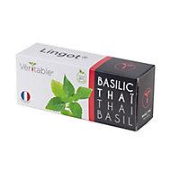 Lingot® Basilic thaï BIO pour potagers d'intérieur Véritable®