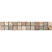 Listel mosaïque 5 x 31 cm Quarzit