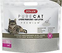 Litière agglomérante premium pour chat Purecat 16L