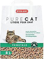 Litière végétale naturelle pour chat Purecat 8L