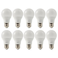 Lot 10 ampoules LED Diall E27 60W blanc neutre