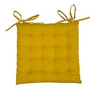 Lot 4 galettes de chaise jaune 40 x 40 cm