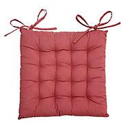 Lot 4 galettes de chaise rouge 40 x 40 cm