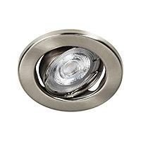Lot 5 spots à encastrer Chancey LED GU10 Ø8,5cm IP20 345lm 50W 5.2W Blanc chaud Argent