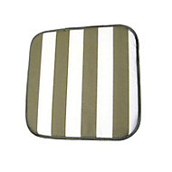 Lot de 2 galettes de chaise carrées Pinaki gris et blanc 40 x 40 cm