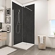 Lot de 2 panneaux muraux salle de bains 100 x 210 cm, Schulte DécoDesign Décor, ardoise