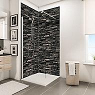 Lot de 2 panneaux muraux salle de bains 100 x 210 cm, Schulte DécoDesign Décor, parement ardoise