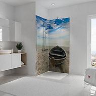 Lot de 2 panneaux muraux salle de bains 90 x 210 cm, Schulte DécoDesign, bateau en niche