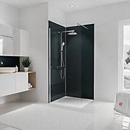 Lot de 2 panneaux muraux salle de bains 90 x 210 cm, Schulte DécoDesign Couleur, anthracite