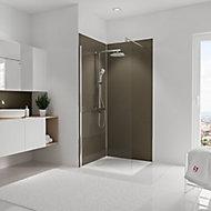 Lot de 2 panneaux muraux salle de bains 90 x 210 cm, Schulte DécoDesign Couleur, taupe