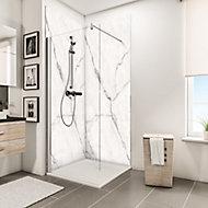 Lot de 2 panneaux muraux salle de bains en marbre 100 x 210 cm - Schulte DécoDesign