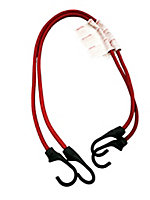 Lot de 2 tendeurs élastiques à crochet rouge ø8 mm, 80 cm