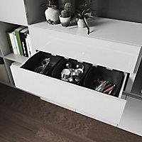 Lot de 2 tiroirs blanc brillant GoodHome Atomia H. 18,5 x L. 71,4 x P. 30 cm
