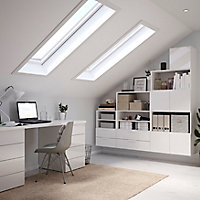 Lot de 2 tiroirs blanc brillant GoodHome Atomia H. 18,5 x L. 71,4 x P. 39 cm