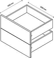 Lot de 2 tiroirs effet chêne GoodHome Atomia H. 18,5 x L. 46,4 x P. 39 cm
