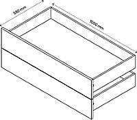 Lot de 2 tiroirs effet chêne GoodHome Atomia H. 18,5 x L. 96,4 x P.50 cm