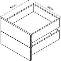 Lot de 2 tiroirs effet chêne grisé GoodHome Atomia H. 18,5 x L. 46,4 x P50 cm