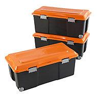Lot de 3 Campers bricolage noir et orange