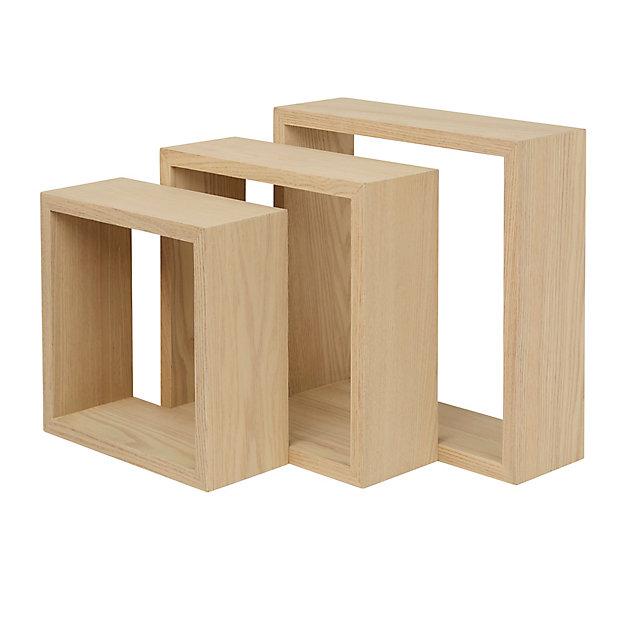 Lot De 3 Cubes Bois Rigga Form Castorama